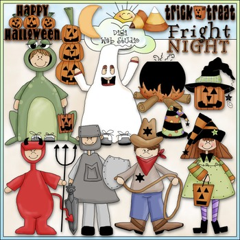 Halloween Clip Art 2 - Trick or Treat Clip Art - Costumes