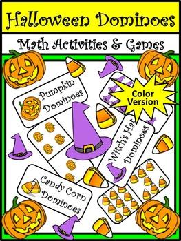 Halloween Math Activities: Halloween Dominoes Math Game Ac