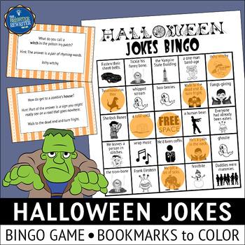Halloween Jokes Bingo