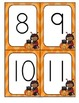 Halloween Numbers and 10-Frames Flashcards for Preschool a