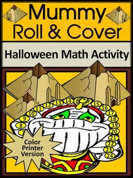 Halloween Activities: Mummy Roll & Cover Activity Packet