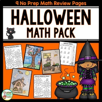 Halloween Math With Addition, Subtraction, & Multiplication