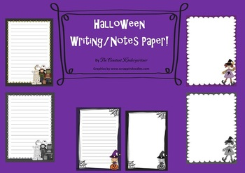 Halloween 24 Writing and Notes Paper