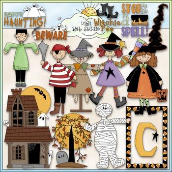 Halloween Clip Art 3 - Trick or Treat Clip Art - Costumes
