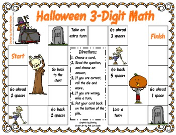 Halloween 3-digit Math Game