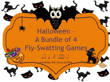 Halloween - A Bundle of Fly Swatting Games to Practice Rhy