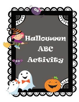 Halloween ABC Order Activity