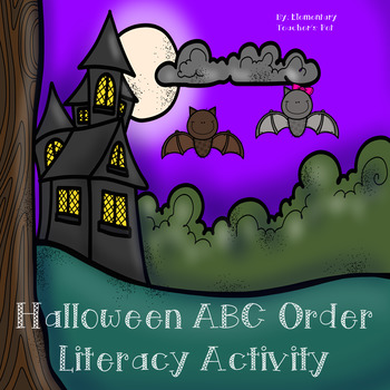Halloween ABC Order Literacy Activity