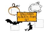 Halloween Acrostic Poem Pack