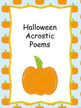 Halloween Acrostic Poem Templates