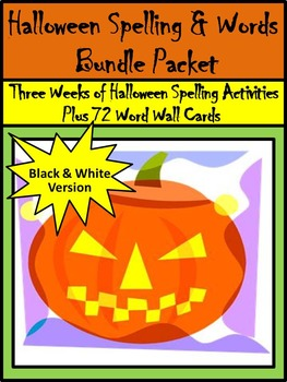 Halloween Worksheets Activities: Halloween Spelling & Word