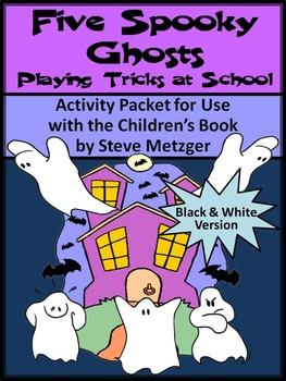 Halloween Reading Activities: Five Spooky Ghosts Halloween
