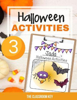 Halloween Activities Packet for 3rd Grade