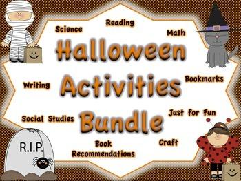 Halloween Activities BUNDLE: Multiple Subject Areas