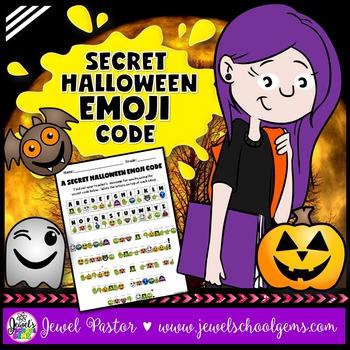 Halloween Emoji Activities (A Secret Code)