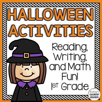 Halloween Math & Literacy Activities - 1st & 2nd Grade - 3