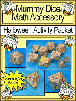 Halloween Activities: Mummy Dice Templates Halloween Math