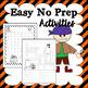 Halloween No Prep Activities Pack