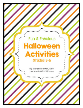 Halloween Activities Packet