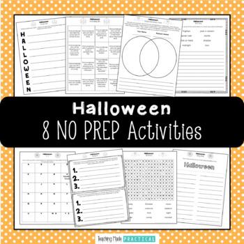 Halloween Activities - Halloween Literacy Centers - Hallow