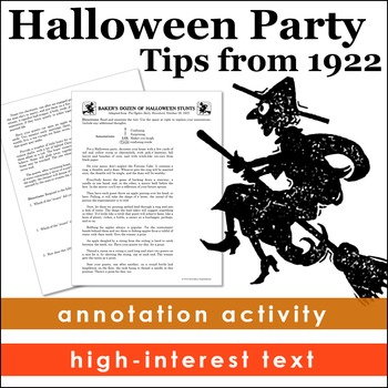 Halloween Activities from History