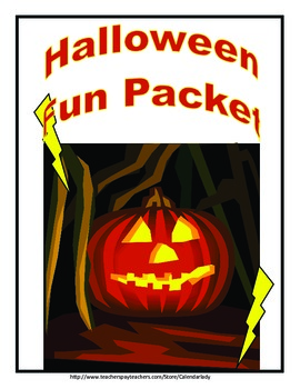 Halloween Activity Packet--13 Pages of Fun, Puzzles, and Games!