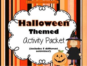 School Counselor Halloween Activity Bundle