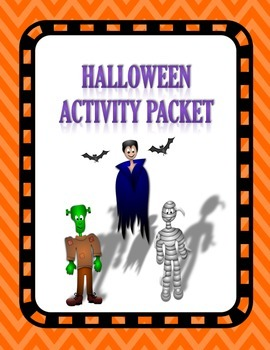 Halloween Activity Packet for the Autism / Special Educati