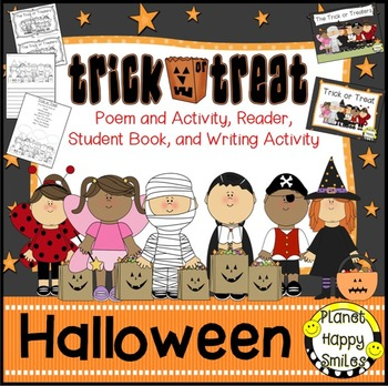 Halloween Activity ~ Trick or Treat Poetry, Reading and Wr