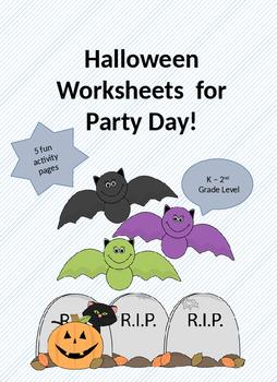 Halloween Activity Worksheets K - 2