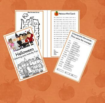 Halloween Activity and Coloring Printable