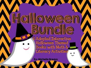 Halloween Adapted Interactive 6 Book Bundle & Activities {