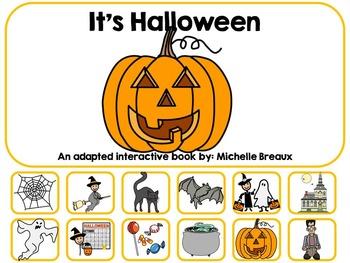 Halloween Adapted Interactive Book {Pre K, K, Autism, Spec