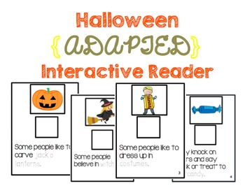 Halloween Adapted Interactive Reader {14 Pages}