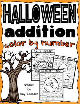 Halloween Addition Color by Number