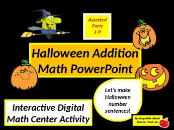 Halloween Addition Math Journal