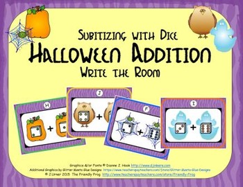 Halloween Addition {Subitizing with Dice}