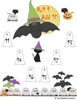 Halloween Addition, Subtraction, Multiplication Bump Game Bundle