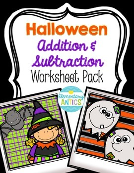 Halloween Addition & Subtraction WS Pack