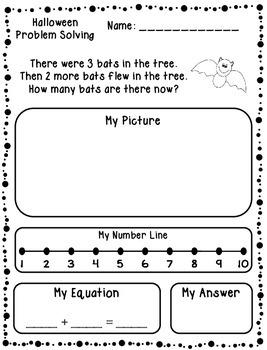 Halloween Addition & Subtraction Word Problems (Kindergart