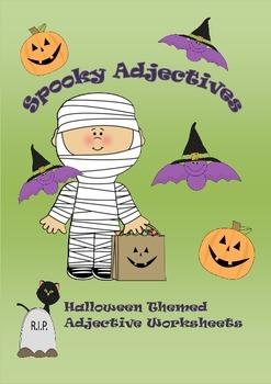 Halloween Adjective Worksheets