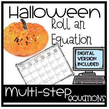 Halloween Algebra Roll-an-equation
