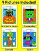 Halloween Activities Color by Letters of the Alphabet - Wi
