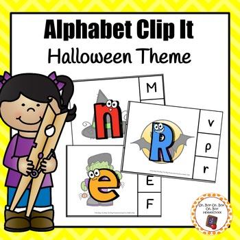 Halloween Alphabet/Letters Clip Cards