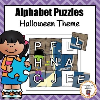 Halloween Alphabet Puzzles