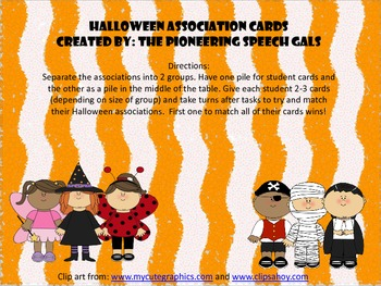 Halloween Association Cards
