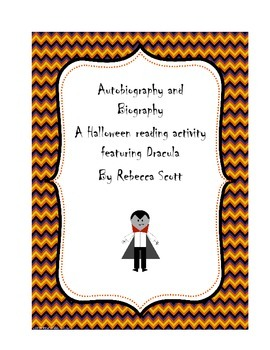 Halloween Autobiography and Biography Activity
