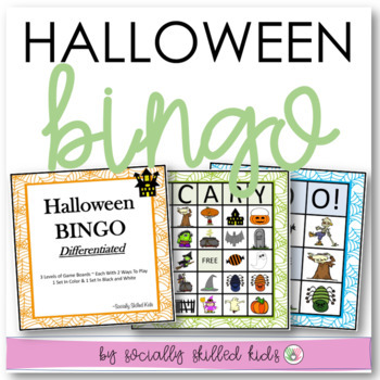 Halloween BINGO! {Differentiated for k-5th Grade or Abilit