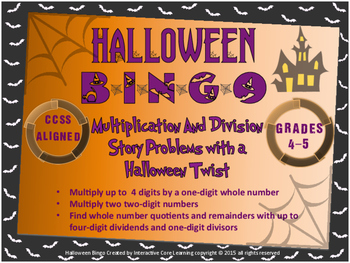 Halloween BINGO - Mult. and Div. Story Problems with a Hal