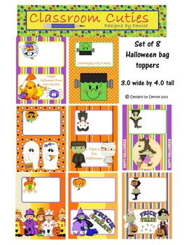 Halloween Bag Toppers
